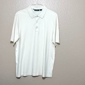 Bobby Jones Men's Golf Polo Large Shirt Ivory